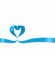 somalian flag heart-shaped ribbon vector image vector image