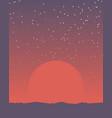 space retro banner vector image