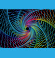 spiral swirl radial hypnotic colorful background vector image