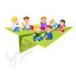 student activity when back to school vector image vector image