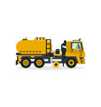 truck cleaning the road with a brush and water vector image vector image