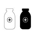 two medical bottles vector image