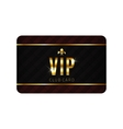 VIP card template vector image