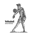 volleyball player abstract vector image vector image