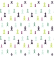 Abstract multicolor pine forest seamless pattern vector image vector image