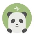 Animal set Portrait in flat graphics - Panda vector image