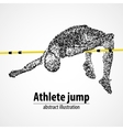 athletics high jump competition vector image vector image