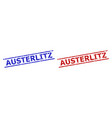 austerlitz watermarks with unclean surface and vector image vector image