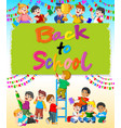 back to school wallpaper with student vector image vector image