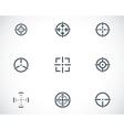 balck crosshair icons set vector image vector image