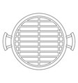 bbq grill top view monochrome silhouette vector image vector image