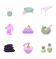 Beauty salon icons set cartoon style vector image vector image