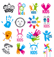 big set logos children vector image
