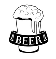 black glass beer icon image design vector image