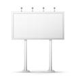 Blank billboard screen