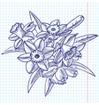 bouquet of doodle vector image
