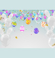 calligraphy with abstract balloons bunny ears vector image vector image