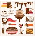 Chocolate decorative elements vector image vector image