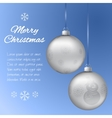 Christmas card with two silver pendants in the vector image vector image
