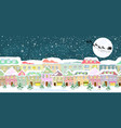 city in winter on christmas eve vector image