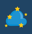 cloud with stars vector image