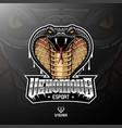 cobra head mascot logo design vector image vector image