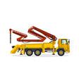 concrete pump commercial vehicles construction vector image vector image