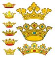 crown vector image vector image