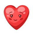 cute heart celebrating valentine vector image vector image
