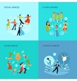 Dance styles Flat Concept vector image vector image