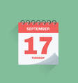 day calendar with date september 17 vector image vector image