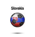 flag of slovakia in the form of a soccer ball vector image vector image