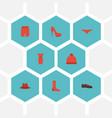 flat icons swimming trunk hosiery man footwear vector image vector image