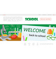 flat school time landing page template vector image