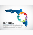 florida organization community people vector image vector image