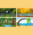 four different nature horizontal scenes vector image vector image