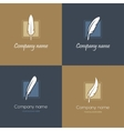 Four feather logos vector image