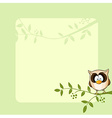 frame design with cute owl vector image vector image