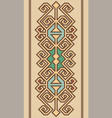 geometrical ornament in the soft front vector image