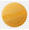 gold extra large award stamp vector image vector image