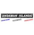grunge andaman islands textured rectangle stamp vector image vector image