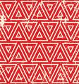 Grunge vintage geometric seamless pattern old vector image vector image