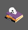 halloween spell book vector image vector image