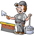 Happy Bricklayer Handyman vector image vector image