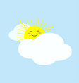 happy sun woke up and stretching vector image