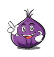 have an idea red onion character cartoon vector image vector image