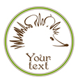 hedgehog symbol vector image vector image