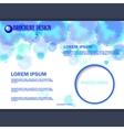 horizontal business brochure for design vector image vector image