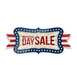 independence day sale banner with festive ribbon vector image vector image