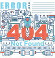 Infographics elements concept of 404 Error vector image vector image